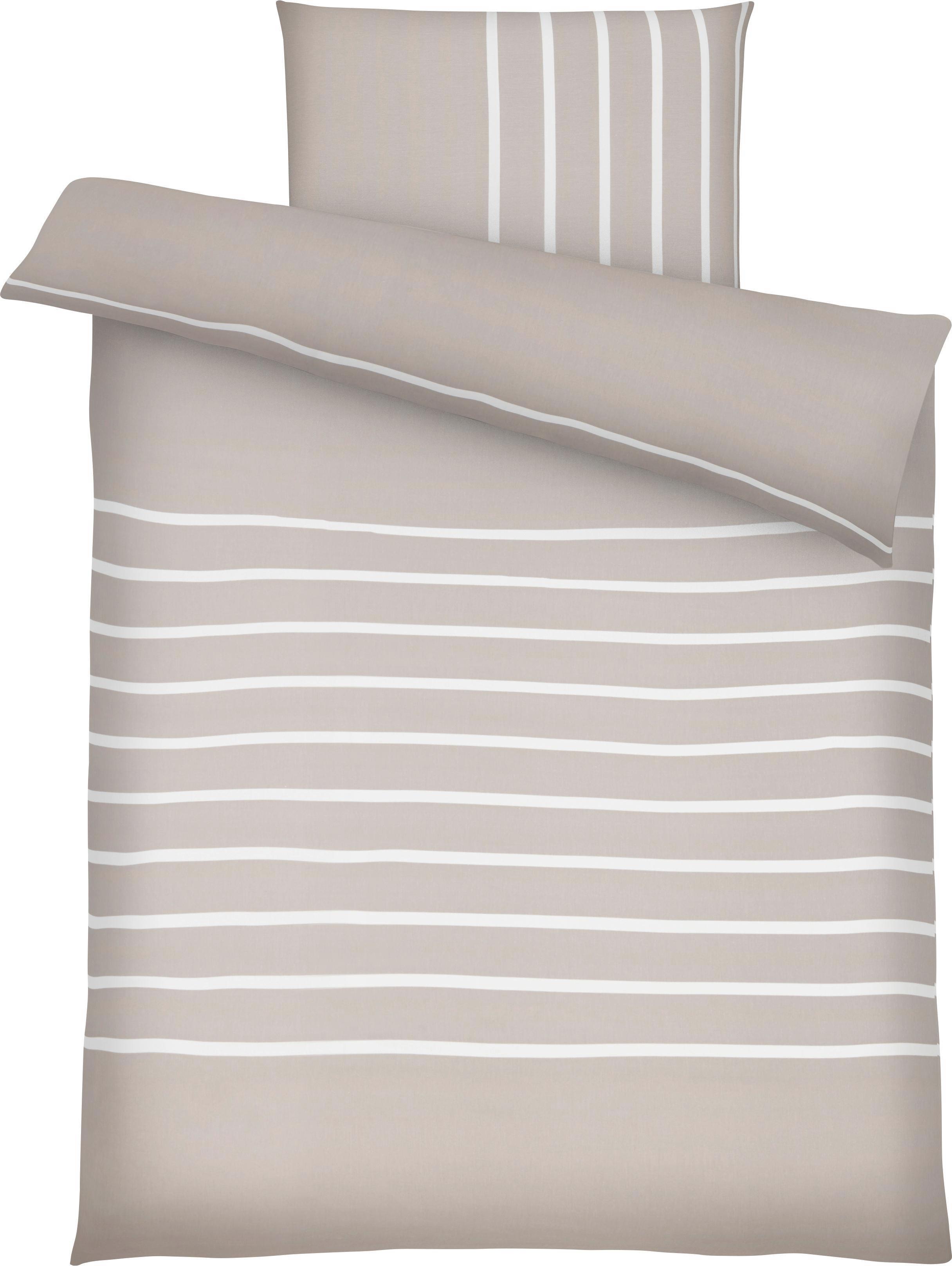 Bettwäsche Tamara, ca. 135x200cm - Beige, MODERN, Textil (135/200cm) - MÖMAX modern living