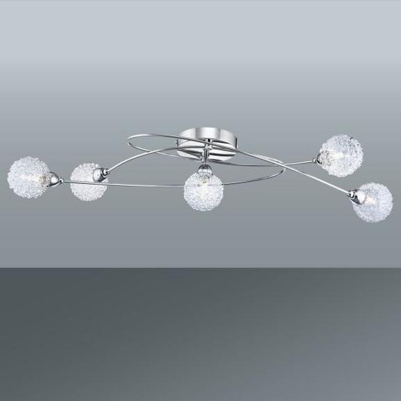 Deckenleuchte Mia, max. 33 Watt - Chromfarben, MODERN, Glas/Metall (76/20/15cm) - Mömax modern living