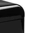 Echtwerk Brotbox Retro mit Sichtfenster - Schwarz, MODERN, Metall (42,5/23,8/17cm) - Echtwerk