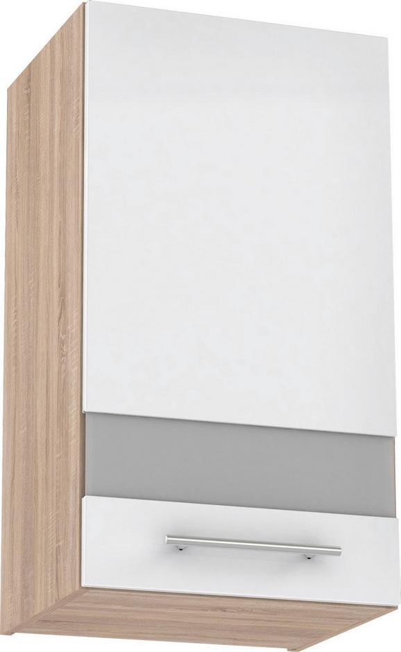 Felsőszekrény Multiforte - Sonoma tölgy/Barna, modern, Műanyag/Üveg (40/72,3/34,6cm)