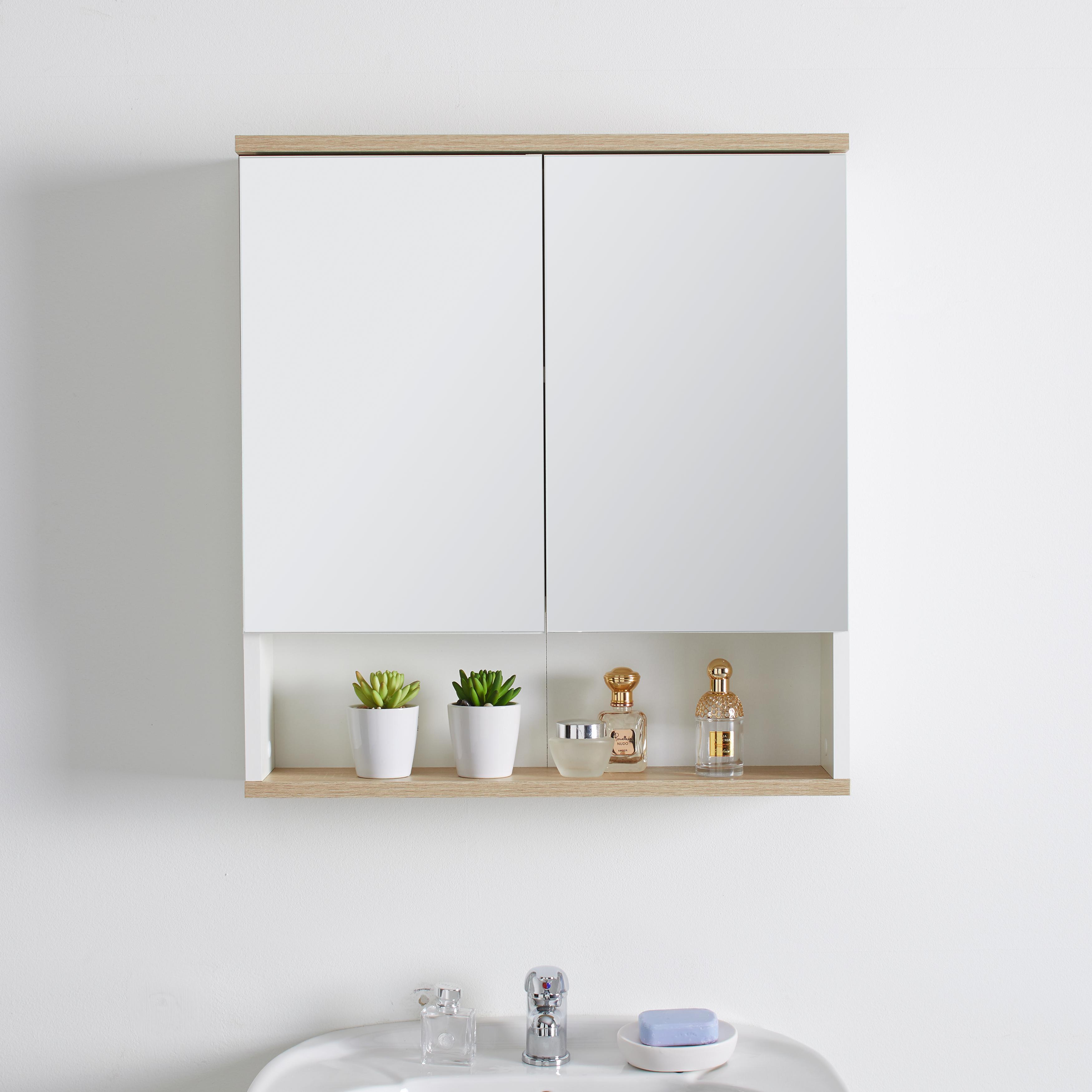 Spiegelschrank in Weiss mit Drehtüren 'Lima'