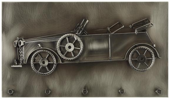 Wandgarderobe Schwarz Nickel - Schwarz, MODERN, Metall (35/20/8cm)