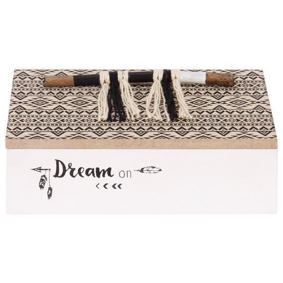 Dekorativna Skrinjica Pocahontas - naravna/črna, leseni material (15/5/9cm)