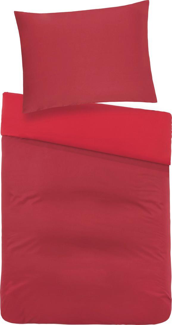 Posteljnina Belinda - rdeča/temno rdeča, tekstil (140/200cm) - Premium Living
