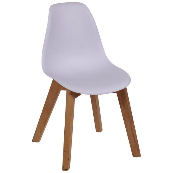 Kinderstuhl in Weiß - Naturfarben/Weiß, Holz/Kunststoff (32/57/30cm)