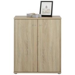 Kommode in Sonoma Eiche - Alufarben/Grau, MODERN, Holzwerkstoff/Kunststoff (72/86/34cm)