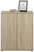 Kommode Sonoma Eiche - Alufarben/Grau, MODERN, Holzwerkstoff/Kunststoff (72/86/34cm)