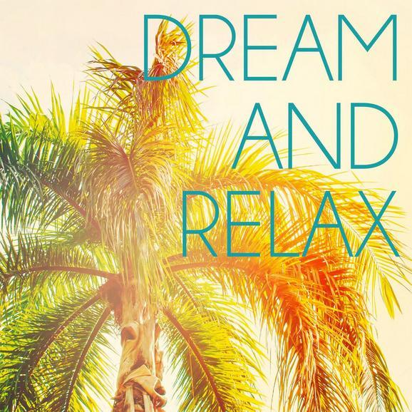 Glasbild Dream And Relax, ca. 30x30x2cm - Multicolor, ROMANTIK / LANDHAUS, Glas (30/30/2cm)