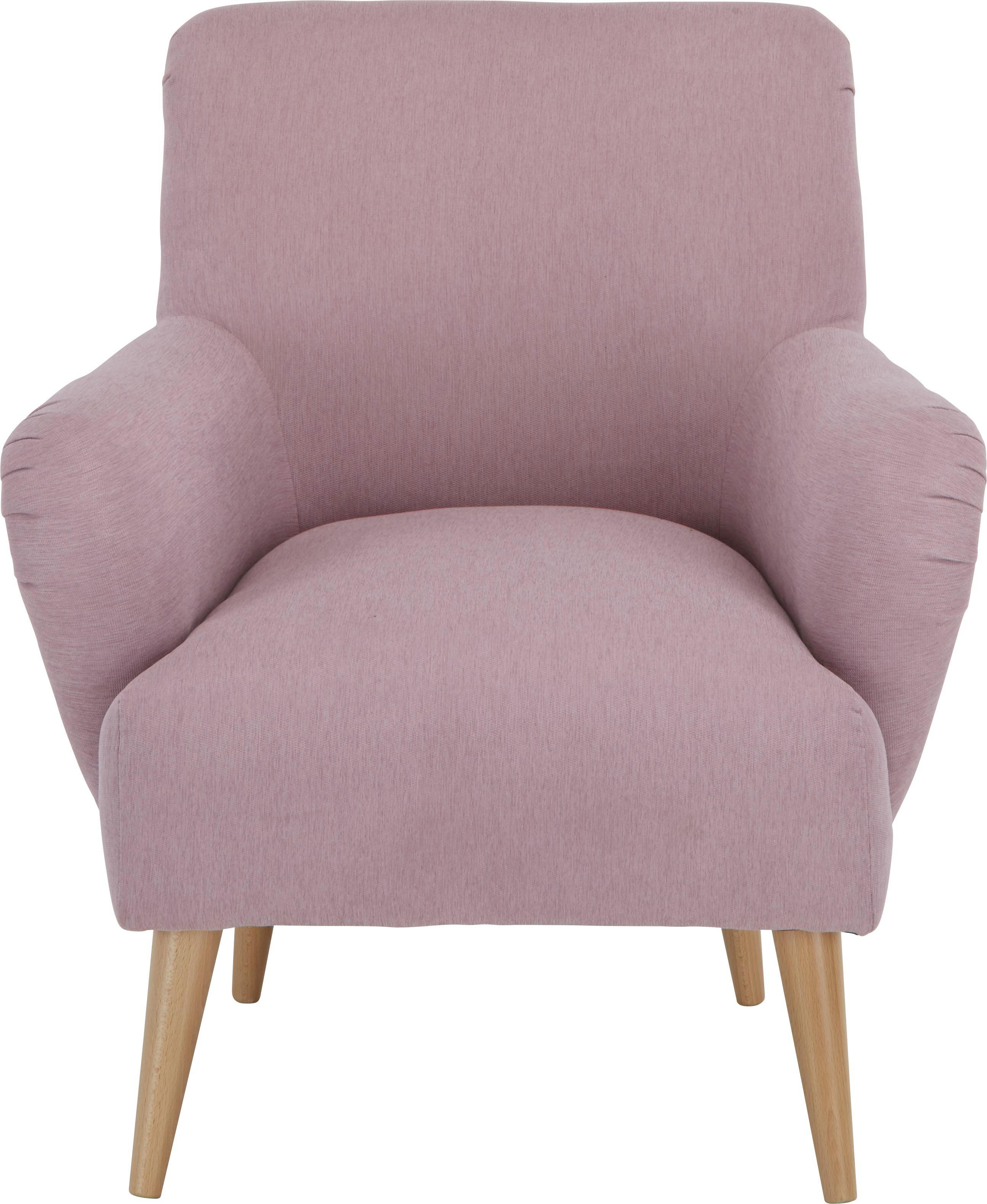 Sessel in Altrosa - Altrosa/Naturfarben, LIFESTYLE, Textil (77/82/44/78cm) - MÖMAX modern living