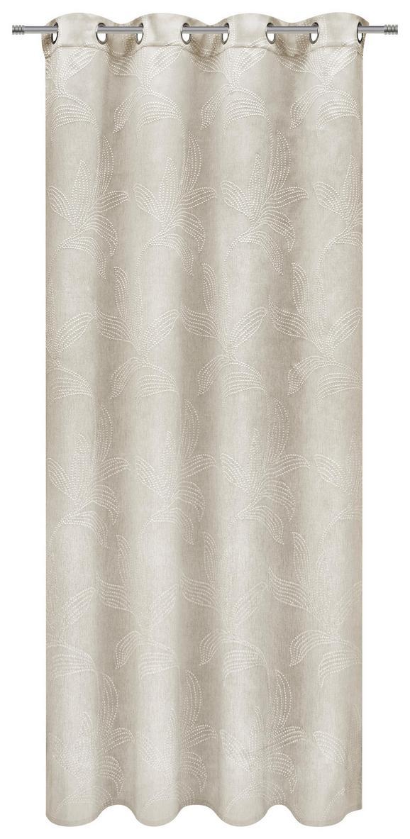 Zavesa Z Obročki Linda - naravna, Konvencionalno, tekstil (140/245cm) - Mömax modern living