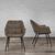 Armlehnstuhl Ares - Schwarz/Braun, MODERN, Holz/Textil (58/81/65,5cm) - Modern Living