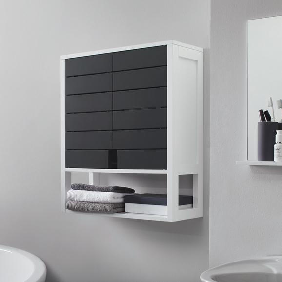HÄNGESCHRANK in grau 'Tia' - Weiß/Grau, MODERN (60/70/23cm) - Bessagi Home