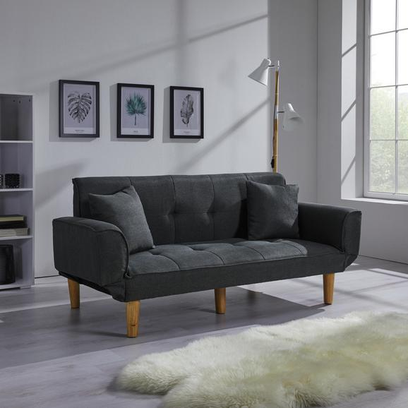 Schlafsofa Miriam inkl. Kissen - Dunkelgrau, MODERN, Holz/Textil (176/71/85cm) - Modern Living