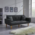 Sofa Miriam mit Schlaffunktion inkl. Kissen - Dunkelgrau, MODERN, Holz/Textil (176/71/85cm) - Modern Living