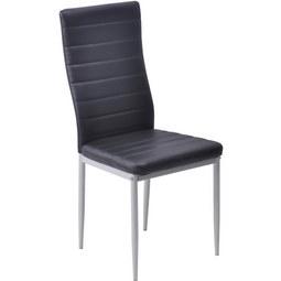 Stuhl in Schwarz - Schwarz, MODERN, Textil/Metall (43/97/51cm) - Based