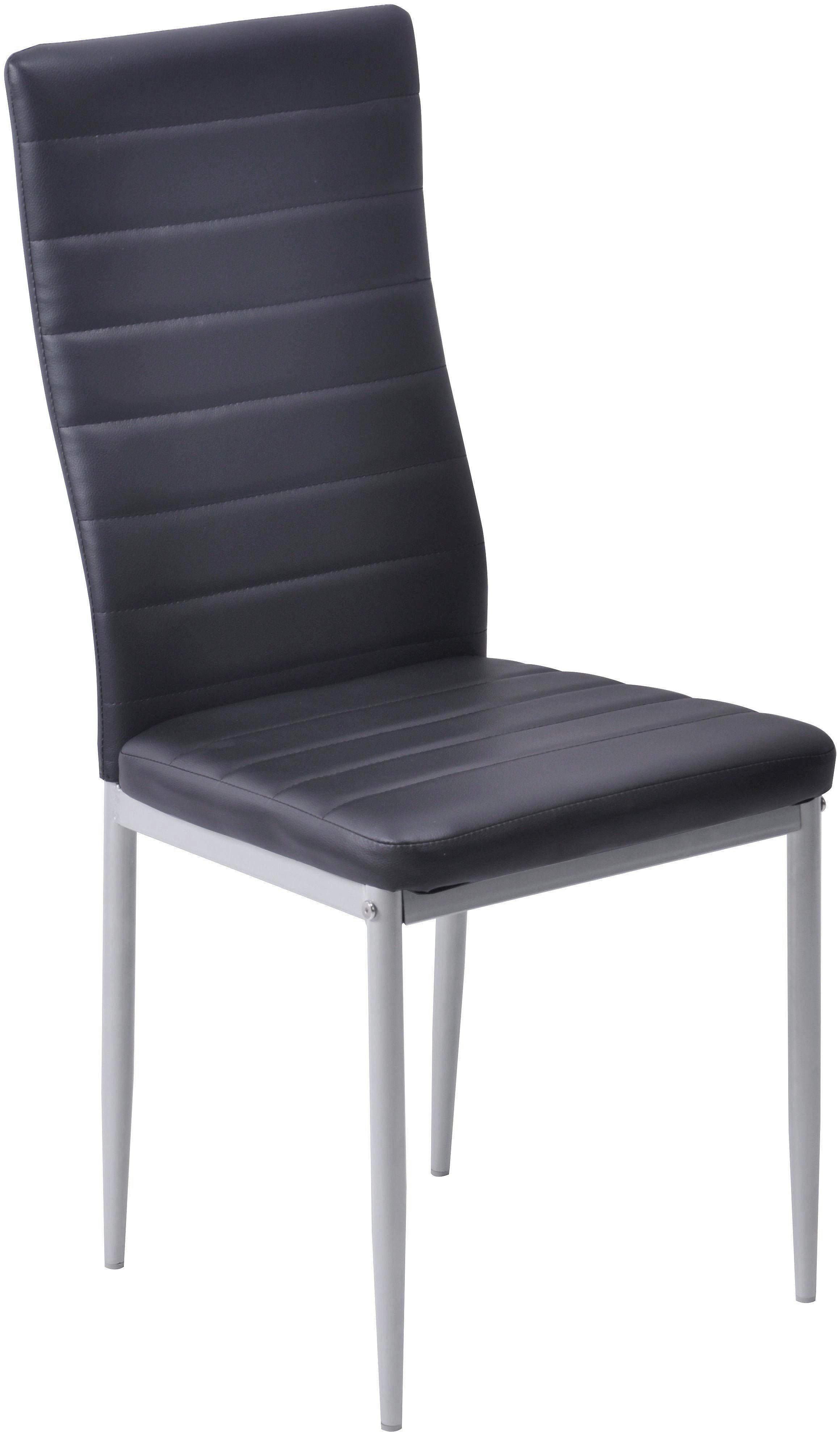 Szék Daniela - fekete, modern, textil/fém (43/97/51cm)