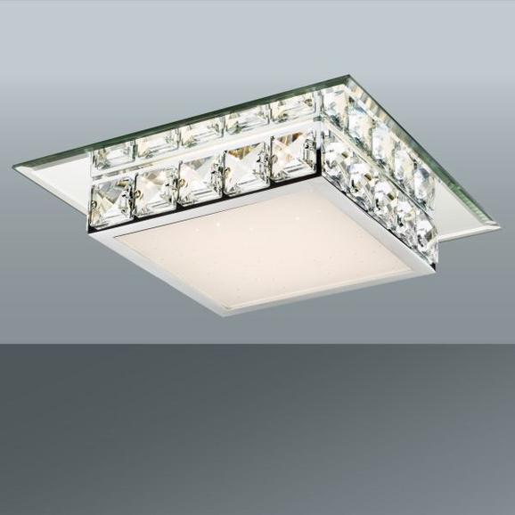 Deckenleuchte Dana, max. 12 Watt - Chromfarben/Klar, KONVENTIONELL, Glas/Kunststoff (25/25/7,5cm) - Mömax modern living