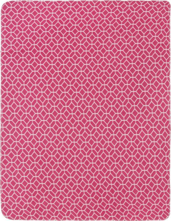 Fleecedecke Sahara in Rot, ca. 130x170cm - Rot, LIFESTYLE, Textil (130/170cm) - MÖMAX modern living