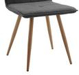 Stuhl Jay - Dunkelgrau/Buchefarben, MODERN, Holz/Textil (48/91/44,5cm) - Modern Living