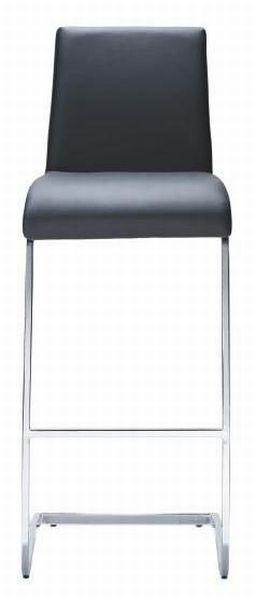 Barhocker Schwarz - Silberfarben/Schwarz, MODERN, Kunststoff/Textil (46/40/105cm) - Mömax modern living