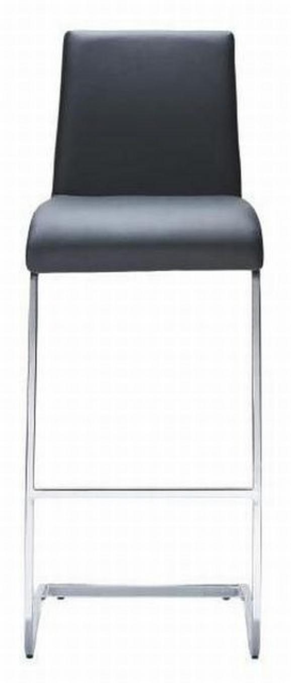 Barhocker Schwarz - Silberfarben/Schwarz, MODERN, Kunststoff/Textil (46 40 105cm) - Mömax modern living