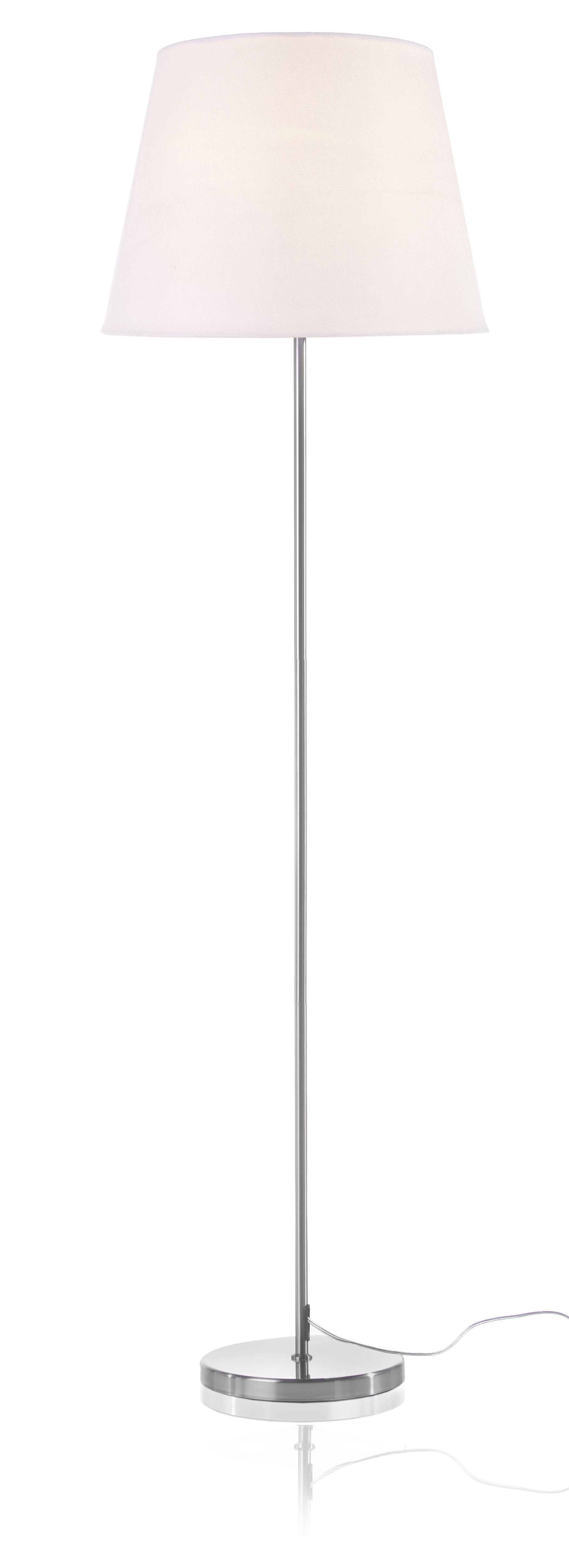Podnožje Svetilke Romana - srebrna, kovina (25/135cm) - MÖMAX modern living