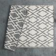 Flachwebeteppich Edgar Creme/Silber 100x150cm - Silberfarben/Creme, MODERN, Textil (100/150cm) - Mömax modern living