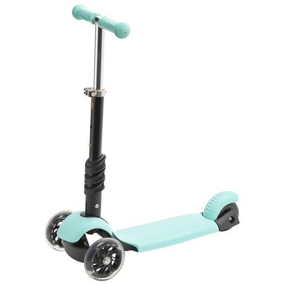 Mini-Scooter Twist in Schwarz/Türkis - Türkis/Schwarz, Basics, Kunststoff/Metall (56/26/78cm)