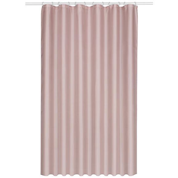 Duschvorhang Uni Rosa 180x200cm - Rosa, Textil (180/200cm) - Mömax modern living