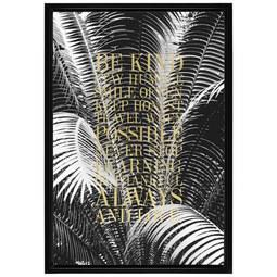 Bild Denise Schwarz/Gold - Goldfarben/Schwarz, Holz/Holzwerkstoff (66/96/4cm) - Modern Living