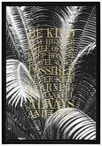 Slika Denise - črna/zlata, leseni material/tekstil (66/96/4cm) - Modern Living