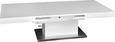 Klubska Miza 2 V 1 - bela/nerjaveče jeklo, Moderno, kovina/leseni material (133/170/47,5/75/80cm) - Premium Living