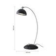 Tischleuchte Amos mit LED - Schwarz, MODERN, Metall (23/12,5/35cm) - Bessagi Home