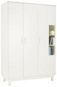 Kleiderschrank Weiß - Weiß, MODERN, Holz (133/195/55cm) - Premium Living