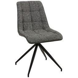 Stuhl in Grau/Schwarz - Dunkelgrau/Schwarz, MODERN, Textil/Metall (48/87/62cm) - Modern Living