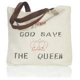 Handtasche Queen - Beige/Rot, LIFESTYLE, Textil (50/40cm) - MÖMAX modern living