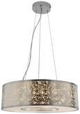 LED-Hängeleuchte Emelle - Silberfarben, MODERN, Textil/Metall (40cm) - Modern Living