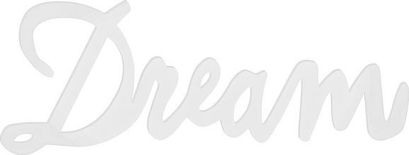 Dekobuchstaben Dream in Weiß - Weiß, MODERN, Holzwerkstoff (77/29/1,2cm) - Mömax modern living