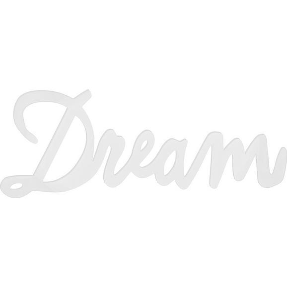 Dekobuchstaben Dream Weiß - Weiß, MODERN, Holzwerkstoff (77/29/1,2cm) - Mömax modern living