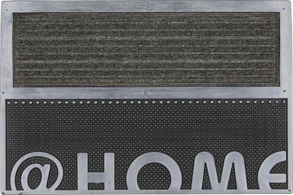 Fußmatte Home in Silber, ca. 40x60cm - Silberfarben, Kunststoff (40/60cm) - Mömax modern living