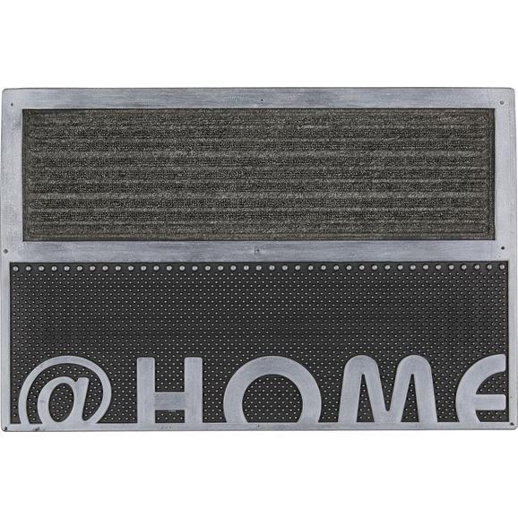 Fußmatte Home in Silber ca.40x60cm - Silberfarben, Kunststoff (40/60cm) - Mömax modern living