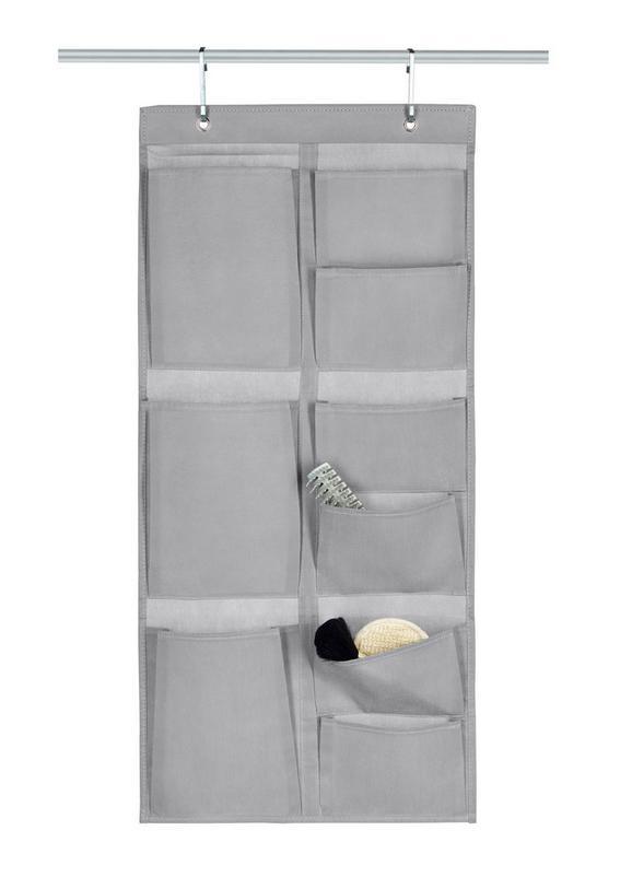 Hängeaufbewahrung Lotta in Grau - Grau, Karton/Textil (40/88cm) - Mömax modern living