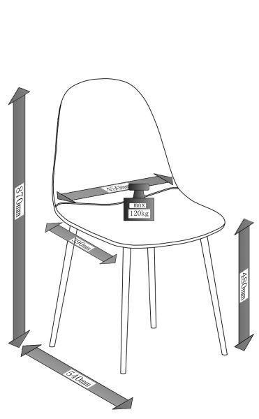 Stuhl Jessica - Hellgrau, MODERN, Textil/Metall (54/87/45cm) - MODERN LIVING