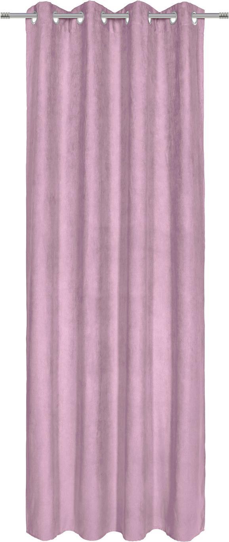 Zavesa Z Obročki Velours -top- - temno roza, Konvencionalno, tekstil (140/245cm) - Mömax modern living