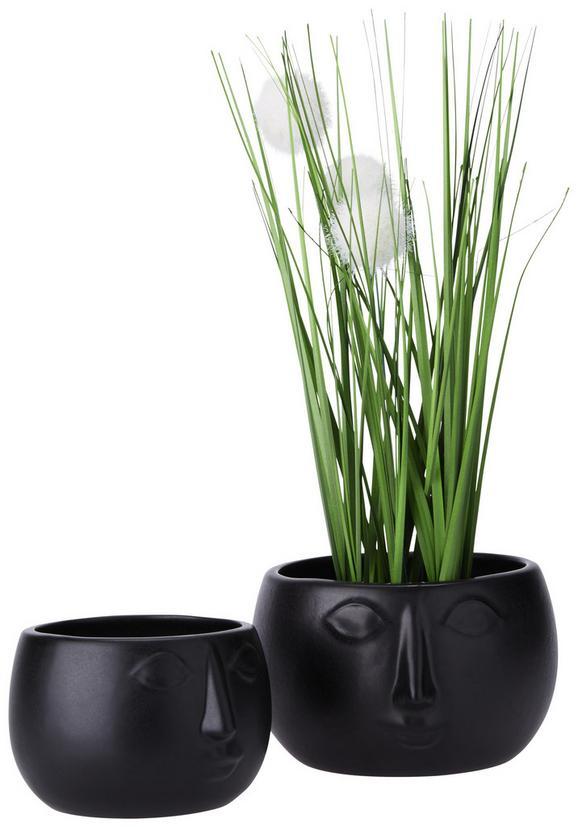 Übertopf Smila Schwarz - Schwarz, Keramik (16,5/15,5cm) - Mömax modern living