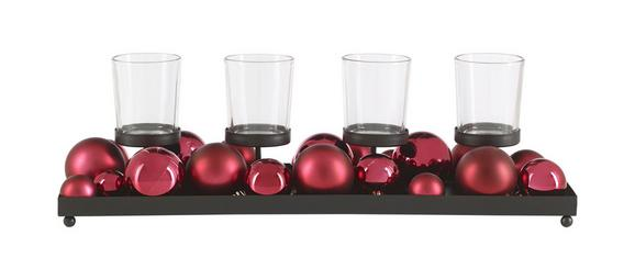 Stojalo Za Čajno Lučko Jan - črna/vinsko rdeča, kovina/umetna masa (40/13,5/6cm) - Mömax modern living