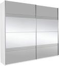 Schwebetürenschrank Spiegel/Grauspiegel - Weiß/Grau, KONVENTIONELL, Holzwerkstoff (226/210/62cm) - Modern Living