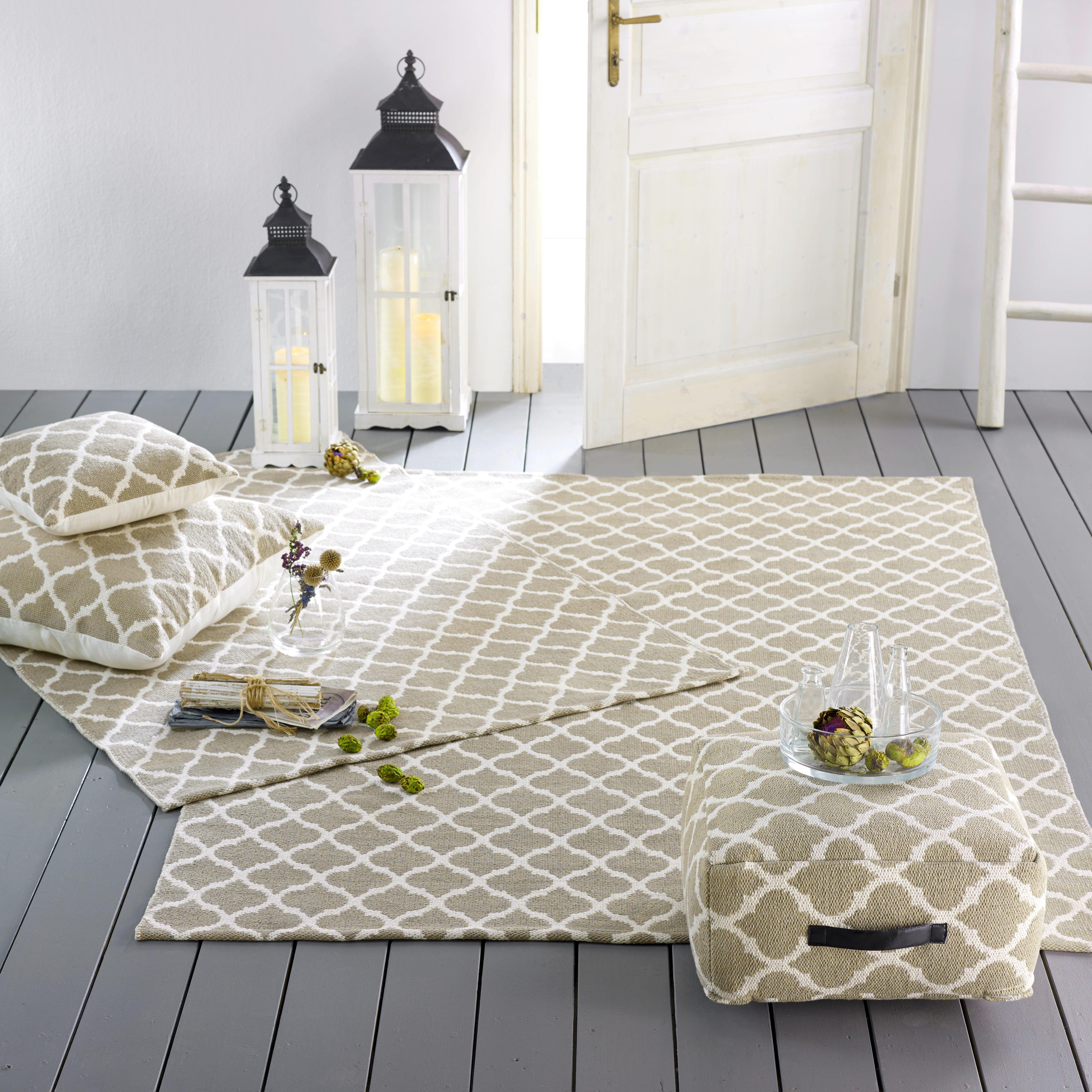 Zierkissen Ornament 70x70cm - Beige, KONVENTIONELL, Textil (70/70cm) - MÖMAX modern living