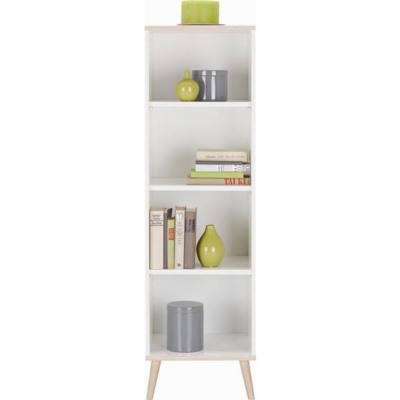 Regal Billund - bela/hrast, Moderno, leseni material/les (42/133/40cm) - Modern Living