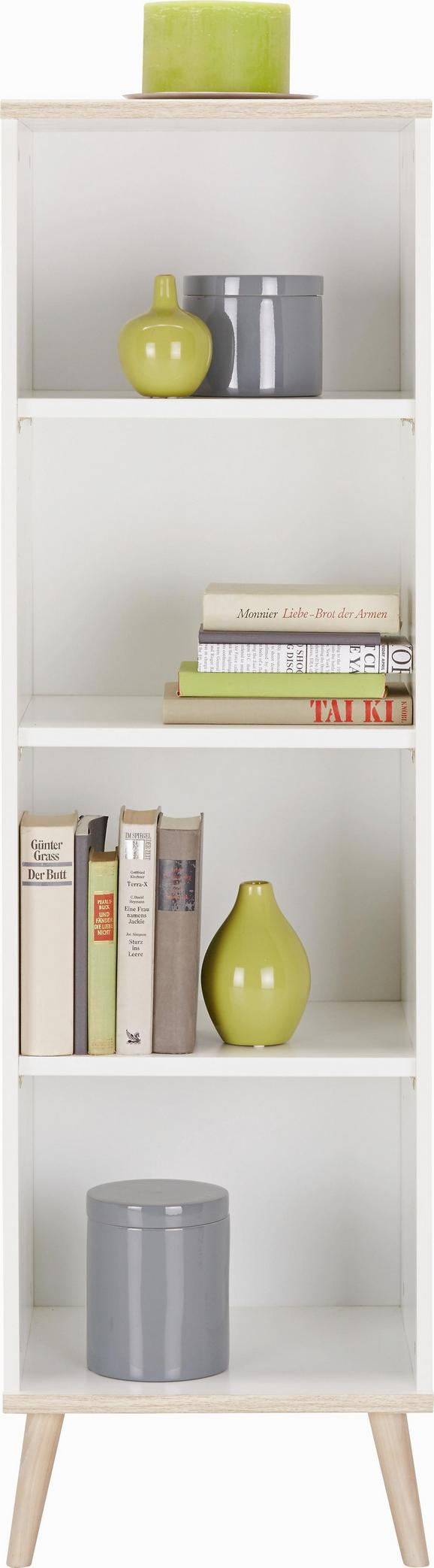 Regal Billund - bela, Moderno, leseni material/les (42/133/40cm) - MODERN LIVING
